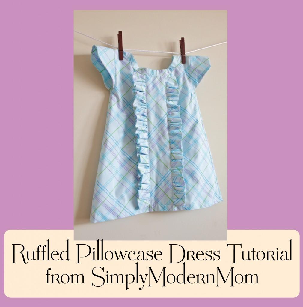 Girls Ruffled Pillowcase Dress Tutorial Whipstitch