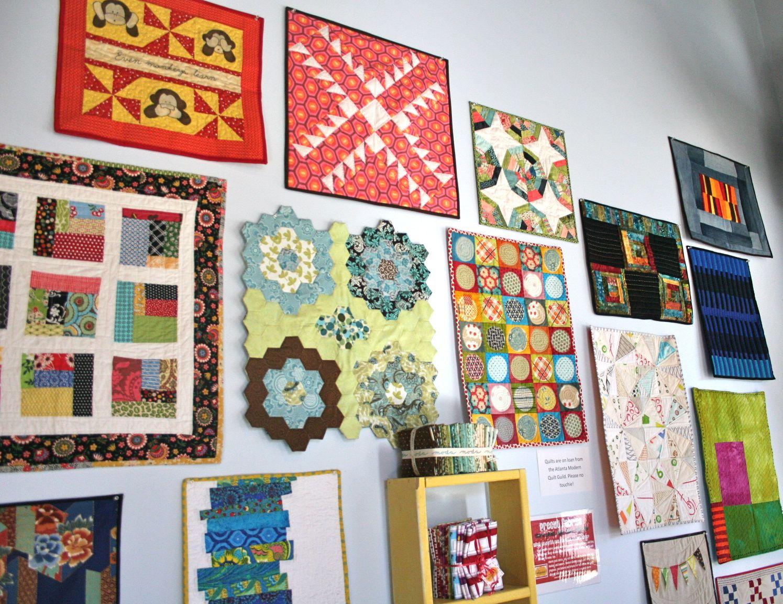 Atlanta Modern Quilt Guild display. | Whipstitch : quilting wall - Adamdwight.com