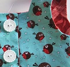 girls dress bodice buttons buttonholes
