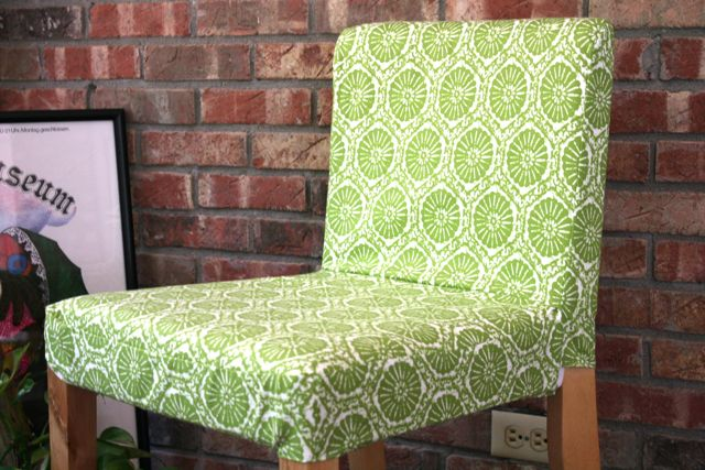Bar stool slip cover whipstitch - Bar height chair slipcovers ...