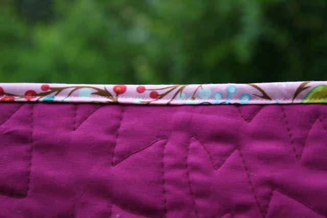 rainy quilt binding
