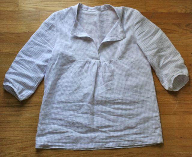 Tova Top In Heirloom Linen Whipstitch