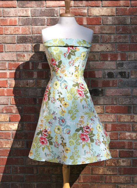 retro strapless dress stitch savvy