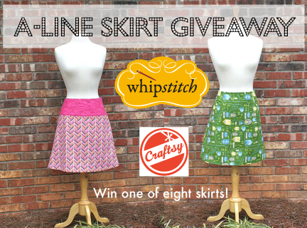 craftsy whipstitch aline skirt giveaway