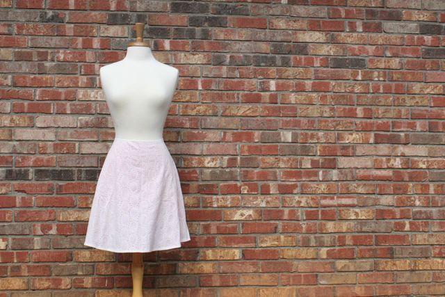 eyelet lined skirt 2