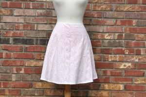 eyelet lined skirt