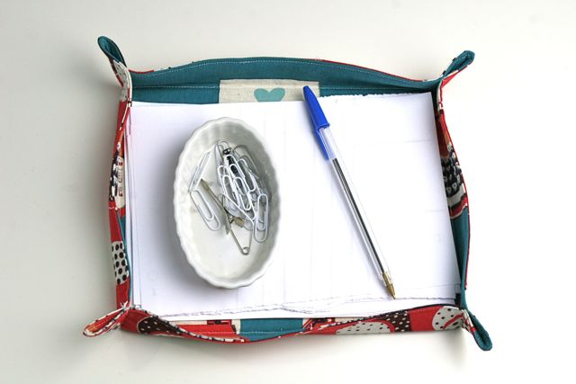 fabric basket desk organizer