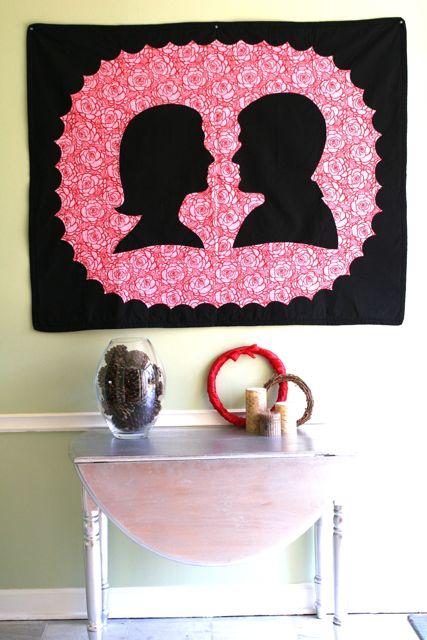 valentine quilt Whipstitch