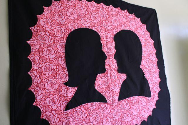 valentine silhouettes Whipstitch