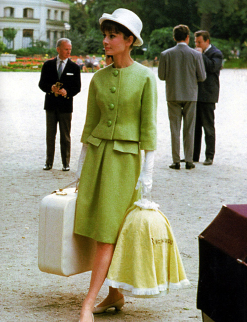 Audrey green suit