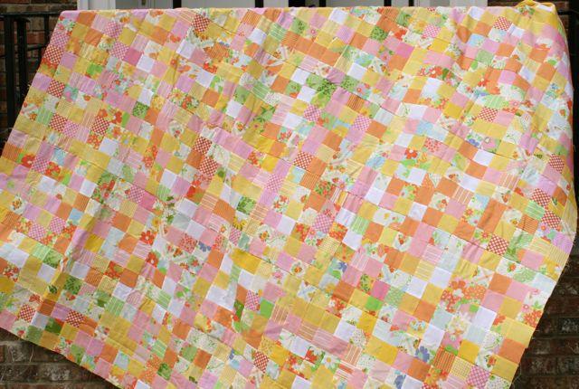 postage stamp quilt | Whipstitch