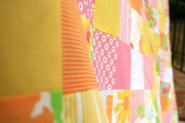 postage stamp quilt detail | Whipstitch