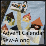 advent quilt button
