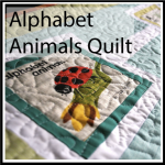 alpha animals quilt button