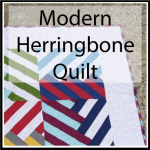modern herringbone quilt button