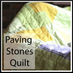 paving stones quilt button