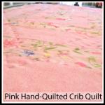 pink quilt button