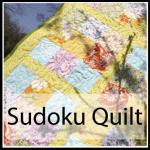 sudoku quilt button