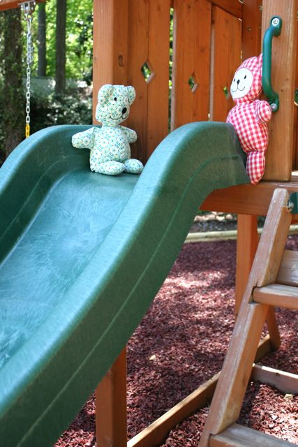 teddy bears slide