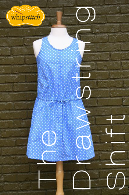drawstring shift dress pattern | whipstitch