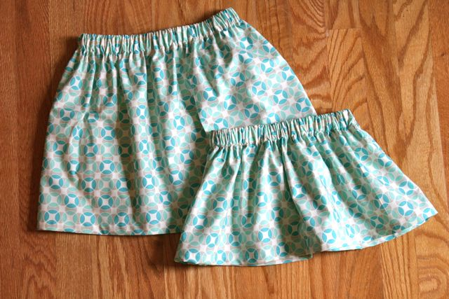 matching skirts | whipstitch