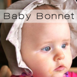 baby bonnet button