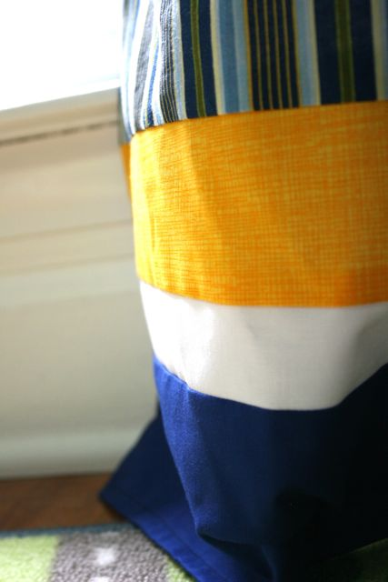 boy curtains hem detail | whipstitch