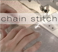chain stitch button