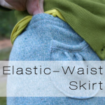 elastic skirt button