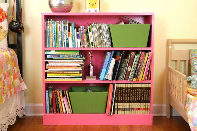 geranium pink bookcase | whipstitch