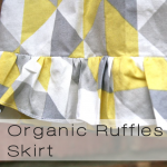 organic ruffles button