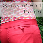red pants button