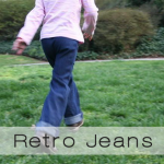 retro jeans button