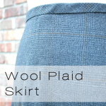 wool plaid button