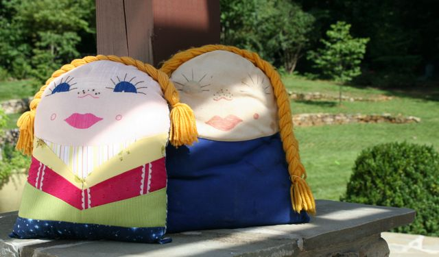 kindergarten pillow dolls | whipstitch