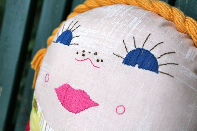 new vintage kindergarten doll | whipstitch