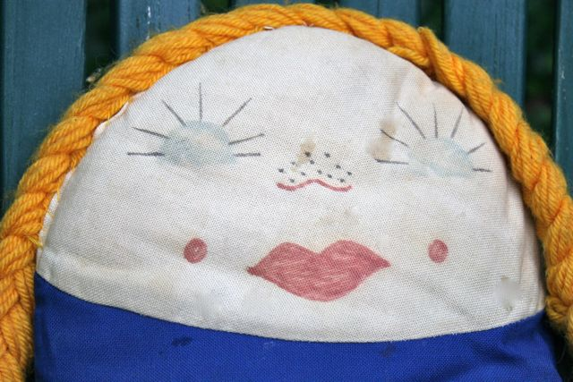 vintage german kindergarten doll face