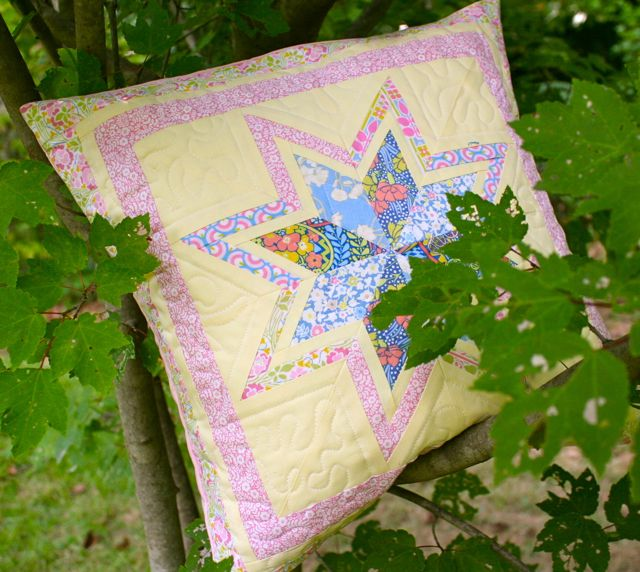 liberty quilting cottons pillow