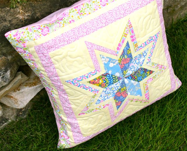liberty stile scrappy pillow