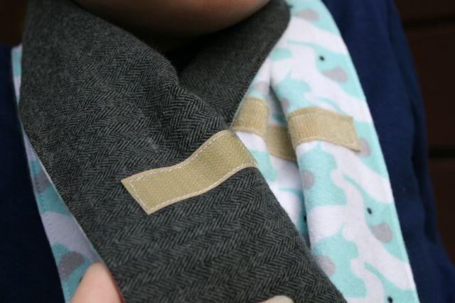 velcro scarf fastening