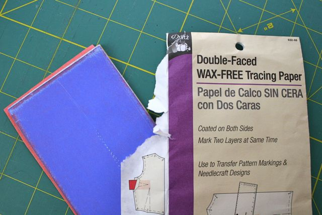 Using Tracing Paper On A Sewing Pattern Whipstitch Simple Pattern Tracing Paper
