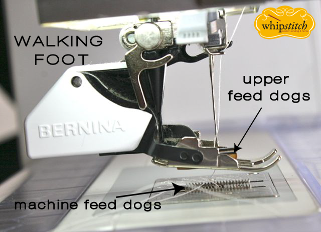 upper feed dogs on walking foot
