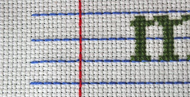zoom margin cross stitch