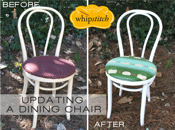 Updating a Dining Room Chair with Fabric & Paint | Whipstitch