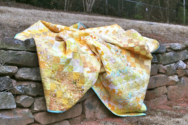 all yellow quilt full size