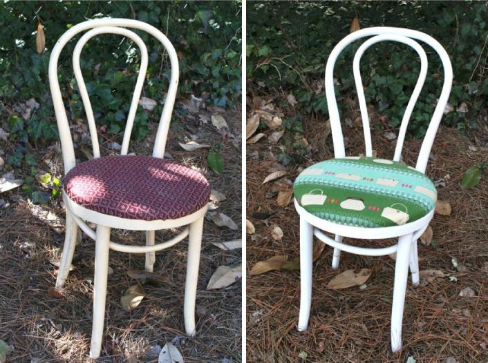 bentwood chair before and after comparison