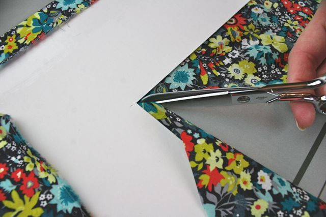 covering a picture mat with fabric