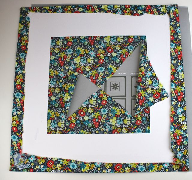 fabric covered mat for picture frame