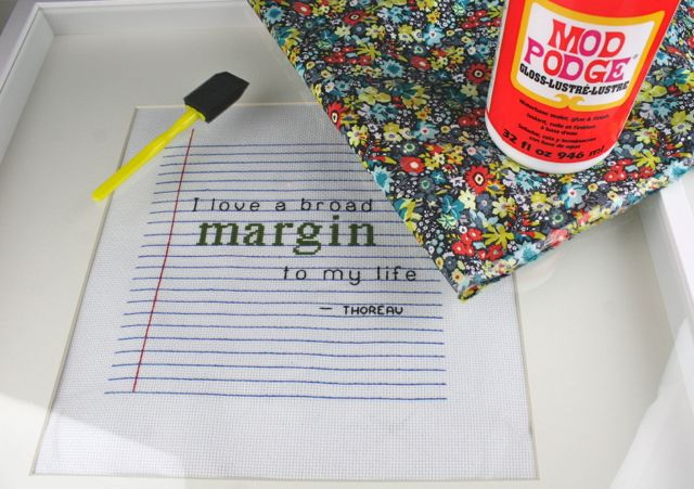 mod podge frame mat supplies