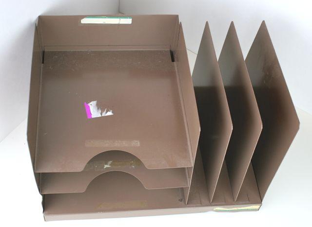vintage metal file organizer
